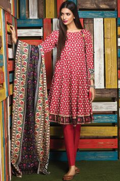 Khaadi - A16803-B-RED - Winter Collection Vol 1 - Unstitched