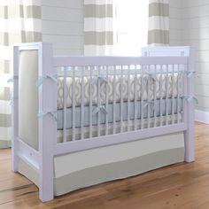 French Gray Geometric Crib Bedding #carouseldesigns