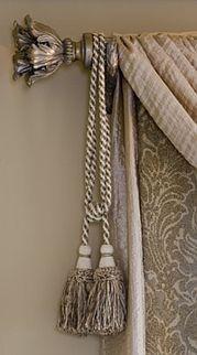 Window Designs by Diane - Custom Drapery Workroom in Long Grove, IL… Luxury Curtains, Elegant Curtains, Curtains With Blinds, Drapes Curtains, Valances, Drapery Designs, Drapery Ideas, Custom Window Treatments, Tuscan Decorating