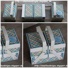 3d Paper Crafts, Diy Paper, Diy And Crafts, Stampin Up, Shabby Chic Crafts, Sewing Box, Diy Box, Origami Paper, Craft Storage