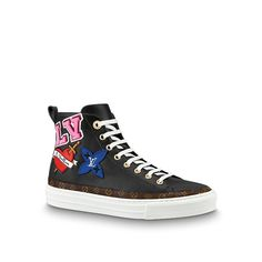 Products by Louis Vuitton  Digital Exclusive LV Black Heart Sneaker Boot 9408b852f2ecc