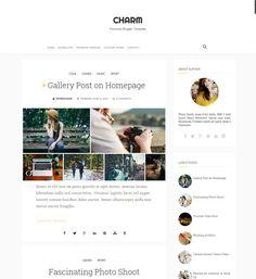 Charm Clean Blogger Template