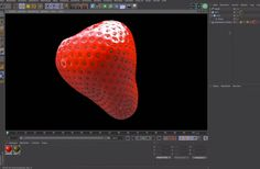 Modeling a Strawberry in Cinema 4D