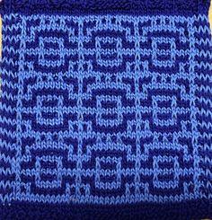 Dishcloth in Mosaic #36 -- free pattern by J.G. Miller