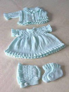 Different-Baby-In-Org Beispiele Sind, - Diy Crafts - hadido Newborn Crochet Patterns, Knitted Doll Patterns, Baby Cardigan Knitting Pattern, Doll Clothes Patterns, Baby Patterns, Knitting Patterns Free, Clothing Patterns, Baby Hut, Knit Baby Sweaters