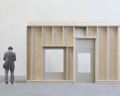 Design study model of the proportions of the openings in relation to each other.