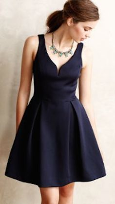 lovely navy flared dress 25% off with HOLIDAY25 #anthrofave #BlackFriday http://rstyle.me/n/sp7kvr9te