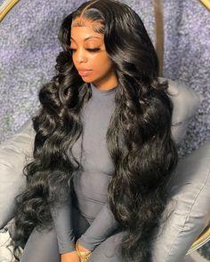 Baddie Hairstyles, Black Women Hairstyles, Frontal Hairstyles, Braided Hairstyles, Beautiful Hairstyles, Curly Hair Styles, Natural Hair Styles, Ponytail Styles, Dibujos Tumblr A Color