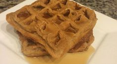Peanut Butter Protein Waffles Nutritional Overview (per 2 waffles) Calories: 149 Carbs: 8.1 Fat: 1.9 Protein: 24.1 Serves: 8 waffles/4 servings Cook time: 20 minutes Ingredients 3 scoops (or 90g) Quest Peanut Butter Protein Powder 3/4 cup liquid egg whites 1 cup unsweetened almond milk 1/2 cup unsweetened apple sauce