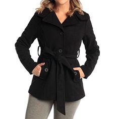 Alpine Swiss Bella Women's Wool Coat Button Up Jacket Belted Blazer - http://www.darrenblogs.com/2017/03/alpine-swiss-bella-womens-wool-coat-button-up-jacket-belted-blazer/