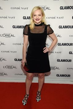 Elisabeth Moss Photos - Actress Elisabeth Moss attends 2015 Glamour Women Of The Year Awards at Carnegie Hall on November 2015 in New York City. - 2015 Glamour Women of the Year Awards - Arrivals Elisabeth Moss, Lil Black Dress, Glamour, L'oréal Paris, Celebs, Celebrities, Red Carpet Fashion, Black Is Beautiful, Girl Power