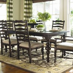I pinned this Paula's Dining Table in Tobacco from the Paula Deen event at Joss and Main!