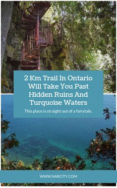This Trail In Ontario Will Take You Past Hidden Ruins And Turquoise Waters Oh The Places You'll Go, Places To Travel, Places To Visit, Vacations To Go, Vacation Spots, Ontario Travel, Ontario Camping, Beaches In Ontario, Minimal Travel