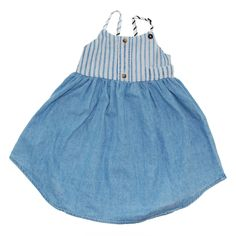 Vintage inspired DRESS - APRON - Indigo BLUES In-store now