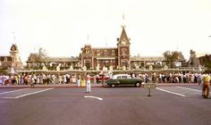 Disneyland, opening day. I've never seen this one, and it's in color too!