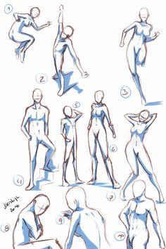 Quick Poses by keishajl.deviantart.com on @deviantART