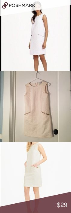 J.crew white summer dress Great summer dress for out on the town or special occasion. There is very small pickings on the edge of the shoulder. J. Crew Dresses Midi