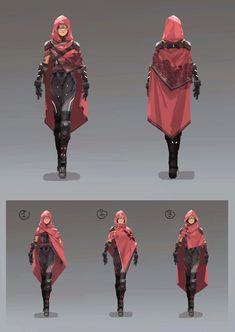 Alternative Janessa's dark armor, but in black