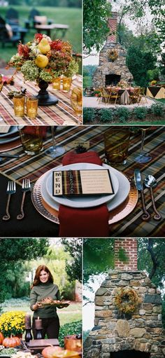 Thanksgiving/Fall Dinner Party - well that's one place to put your scrapbooking items to use