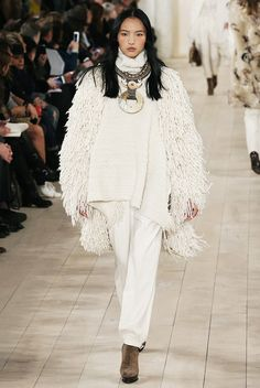 Fall's Biggest Trends, as Described by Real Dudes via @WhoWhatWear - ponchos - Ralph Lauren Fall-Winter 2015 (=)
