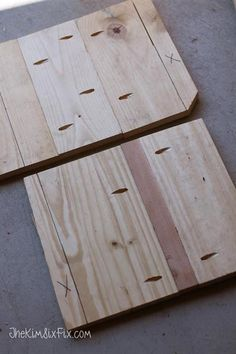 Assemble boards for inset panel