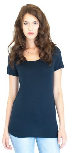 Made in USA! Women's Bamboo Organic Scoop Neck T-Shirt Great, short sleeve tee drape made from bamboo and environmentally friendly materials such as organic cotton. Silky soft to the feel. It's breath