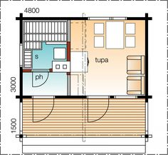 Kipakka 1    Kerrosala 15 m²  Kokonaiskäyttöala 23 m²       Ensin leppoisat löylyt rantasaunassa ja sitten saunakahville tupaan.