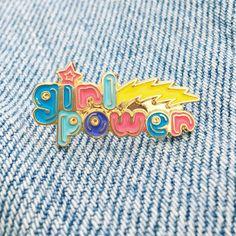 Vintage Girl Power Pin.