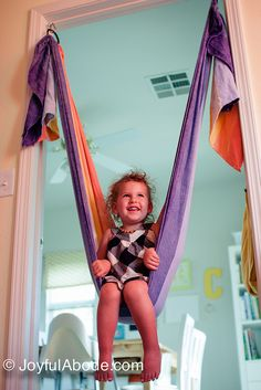 Make a swing with a woven wrap --- I want to do this!