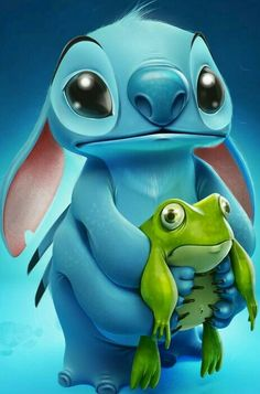 Stitch and the frog