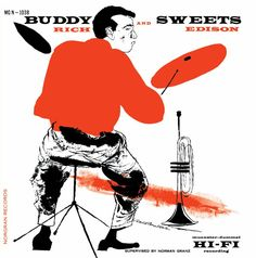 Buddy Rich and Harry Sweets Edison - 1955 - Buddy And Sweets (Verve) - Photo de Verve Records - Cover Jazz Lp Cover, Vinyl Cover, Cover Art, David Stone, Drums Art, Jazz Poster, Classic Jazz, Pochette Album, Music Album Covers