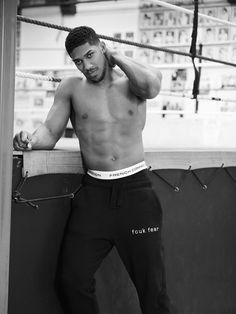 fcuk fear x Anthony Joshua #fcuk #fear #anthony #joshua #frenchconnection #capsule #collection #menswear #british #heavyweight #boxing #champion #boxer Gorgeous Black Men, Handsome Black Men, Beautiful Men Faces, Handsome Guys, Black Man, Black Boys, Pretty Men, Pretty Boys, Boxing Anthony Joshua