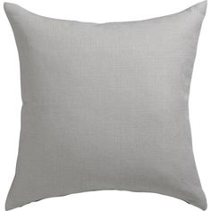 "linon grey 20"" pillow with down-alternative insert"