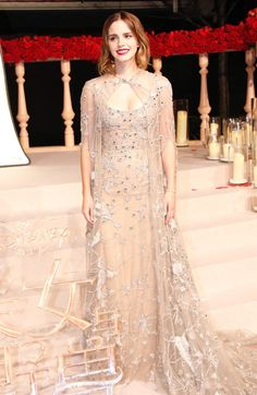Emma Watson attended the Shanghai premiere of Beauty and the Beast wearing a gorgeous couture dress. See it here.