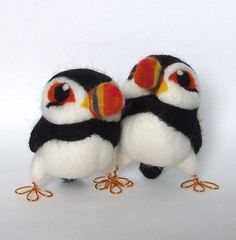 Needlefelted Puffin Bird Bempton the Puffin by feltmeupdesigns, £18.00