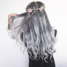 """Pin for Later: Smoky Gray Ombré Hair Is the """"It"""" Hair Dye to Try for Fall"""