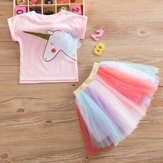 Trendy Unicorn Print Short-sleeve Tee and Colorful Tulle Skirt Set for Girl ..#patpat, #patpat baby fashion, #babyfashion, #kidsfashion, #babyshower, #babyclothes,	 #babydress,	 #kids-clothes, #baby boy clothes,	 #baby girl clothes,	 #baby-stores,	 #kids-dress,	 #girls-clothes,	 #babyshop, #Daisy outfits #Baby2018 #Children clothing #Summer2018 #Summer2019 #Baby Swimwear #newborn toddler swimwear baby girl clothes ,baby clothes ,baby girl dresses ,cute baby clothes ,baby dress ,cheap baby…