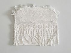 White cotton and lace bridal purse Bridal by Chiclaceandpearls