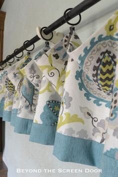 How-to Make a Lined Valance with Contrasting Band | Beyond the Screen Door