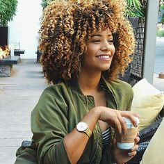 Pin by michelle keith on Funkee Hair Crush in 2019 Curly Afro Hair, Coily Hair, Curly Hair Tips, Curly Girl, Curly Hair Styles, Natural Hair Styles, Blonde Afro, Black Girls Hairstyles, Afro Hairstyles