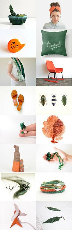 How wonderful you are :: by Barbara on Gift Guide, Spring Fashion, Emerald, Sunglasses Case, Trends, Orange, Green, Etsy, Decor