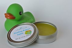 Baby Salve, Healing Baby Salve by JanesAromaScents on Etsy  When caring for your baby, you want effective products that are gentle and non-toxic. Healing baby salve is a soothing salve perfect for irritated skin on your little ones. Ideal to use between diaper changes or on rough patches on arms, legs, and tummies too.