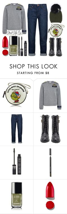 """""""Play Date"""" by latoyacl ❤ liked on Polyvore featuring Olympia Le-Tan, RED Valentino, Étoile Isabel Marant, Topshop, Sonia Kashuk, Chanel and Rodin"""