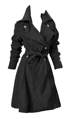 chic black trench coat