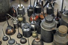 Did you know there were so many shapes and sizes of oil cans?  The tin man would be happy!