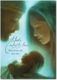 Holy Family God's Gift, Christmas greeting card