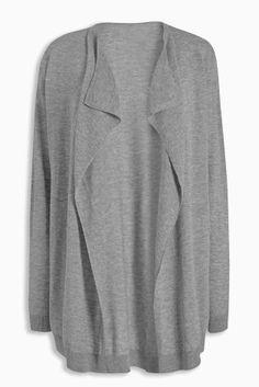 Buy Merino Wool Blend Waterfall Cardigan online today at Next ...