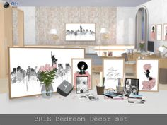 BRIE Bedroom Decor set by RightHearted at TSR