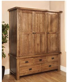 Rustic Oak Triple Wardrobe will add meaning to your room with our magnificent furniture. Go through our website for more details: http://solidwoodfurniture.co/product-details-oak-furnitures-3171-rustic-oak-triple-wardrobe.html