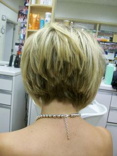 Pretty much what my hair looks like from the back.  I love this cut, it's so fun!